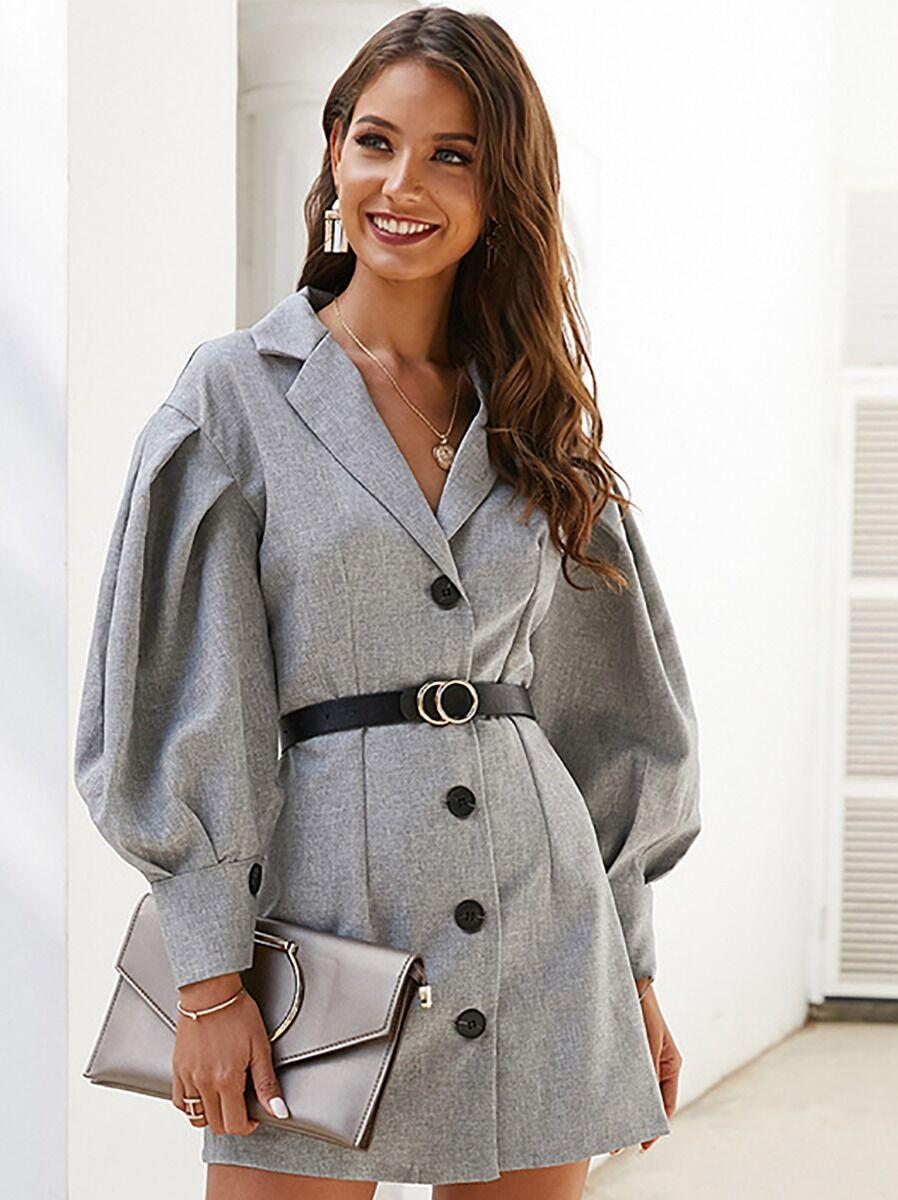 shestar wholesale slim fit front button suit dress