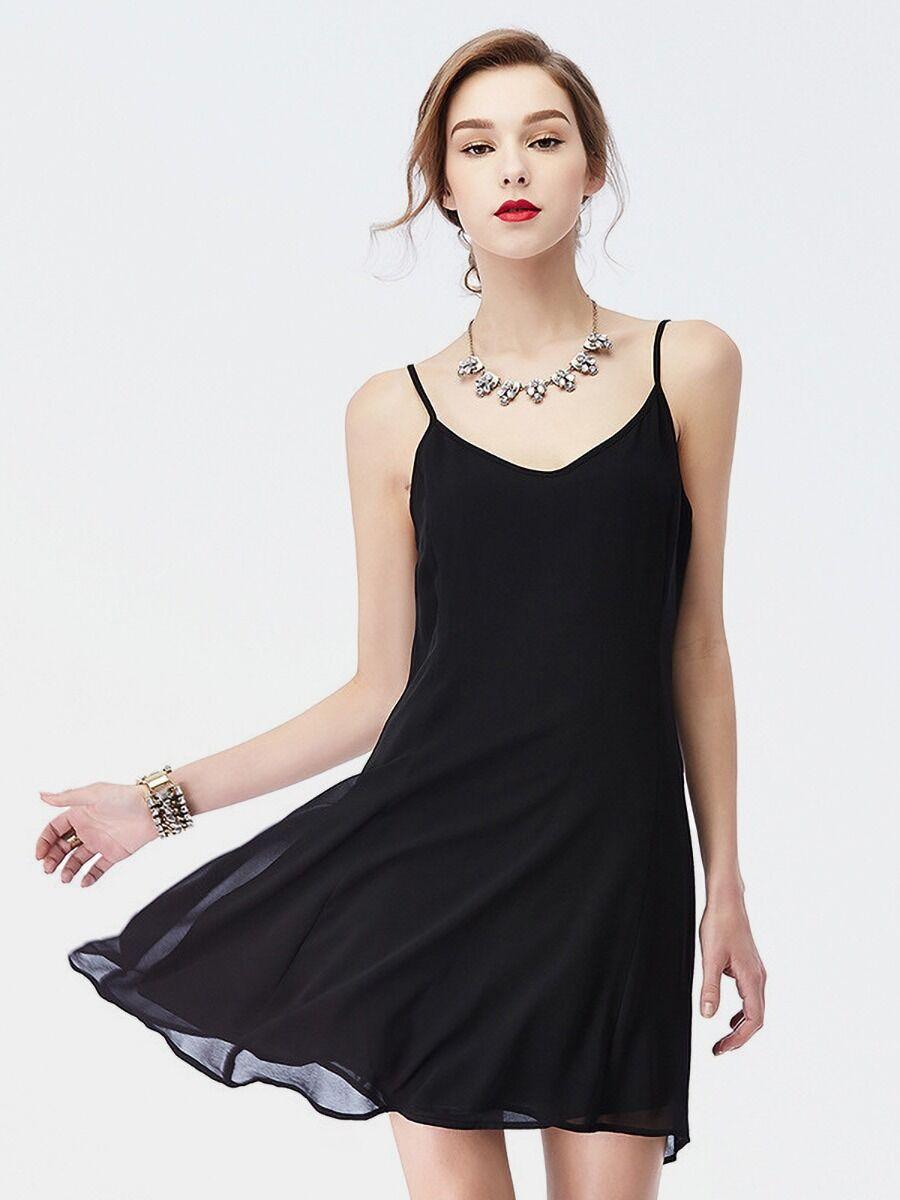 shestar wholesale mesh zip solid color cami dress