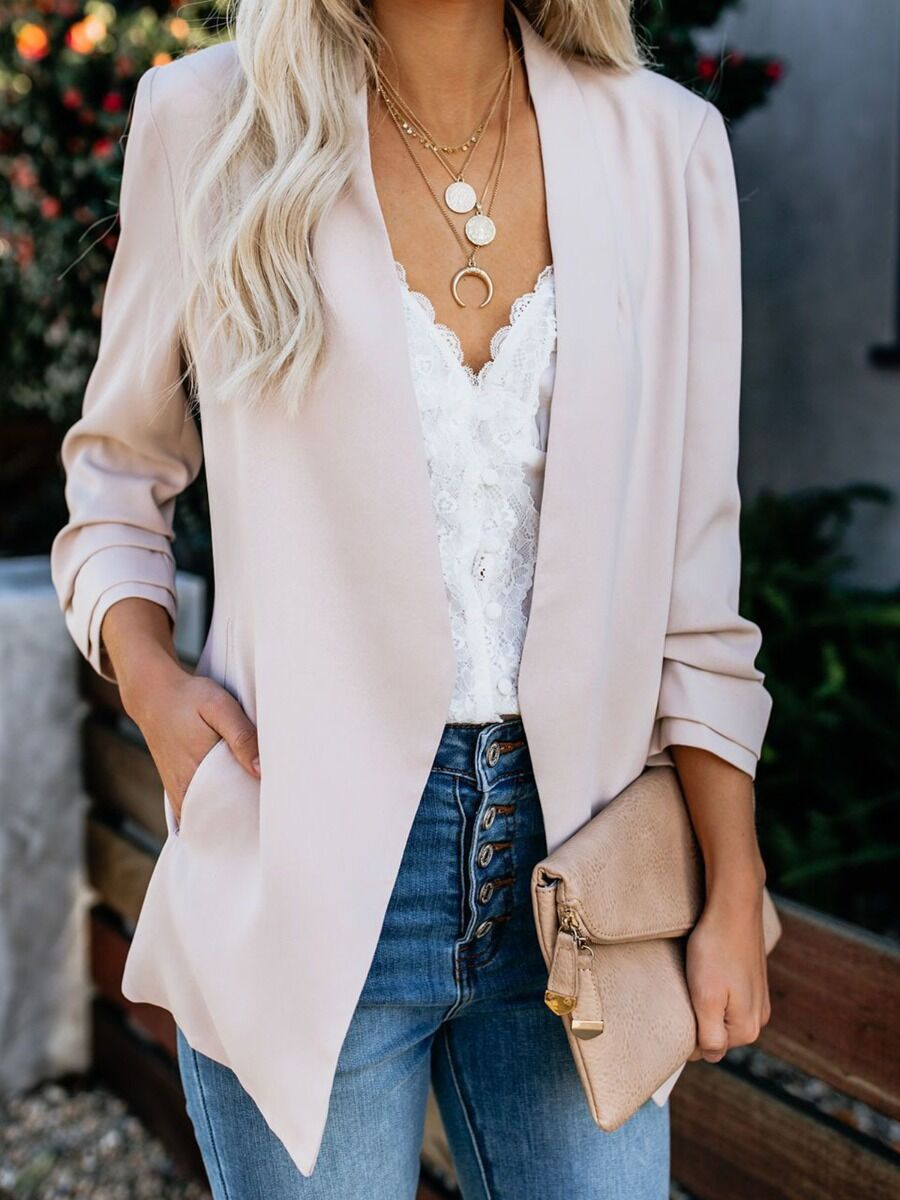 shestar wholesale Solid Color All-match Blazer Outerwear