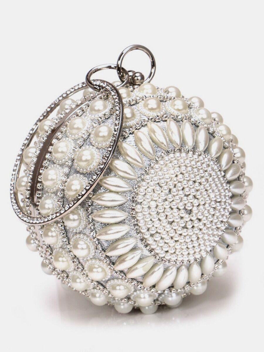 shestar wholesale Faux Pearl Decor Evening Clutch Bag