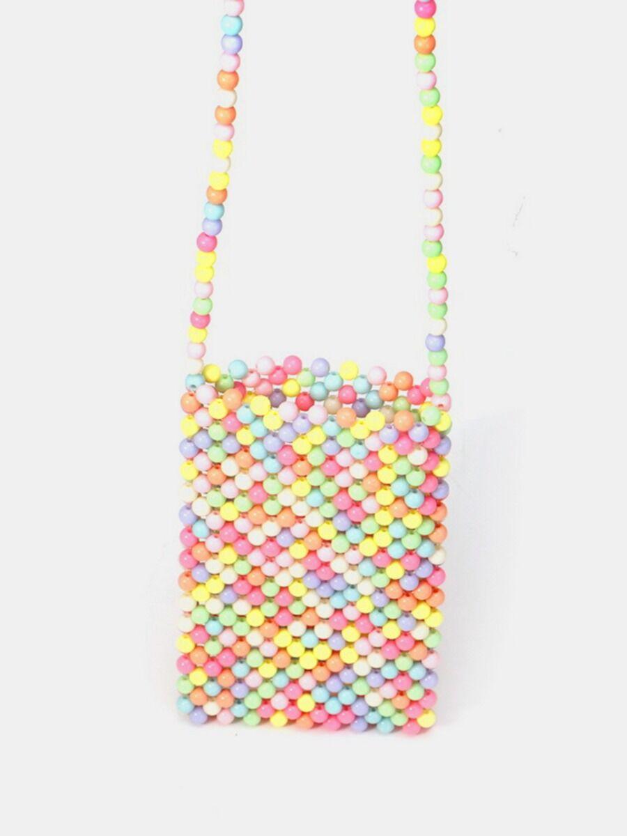 shestar wholesale Fashionable Faux Pearl Woven Mini Shoulder Bag