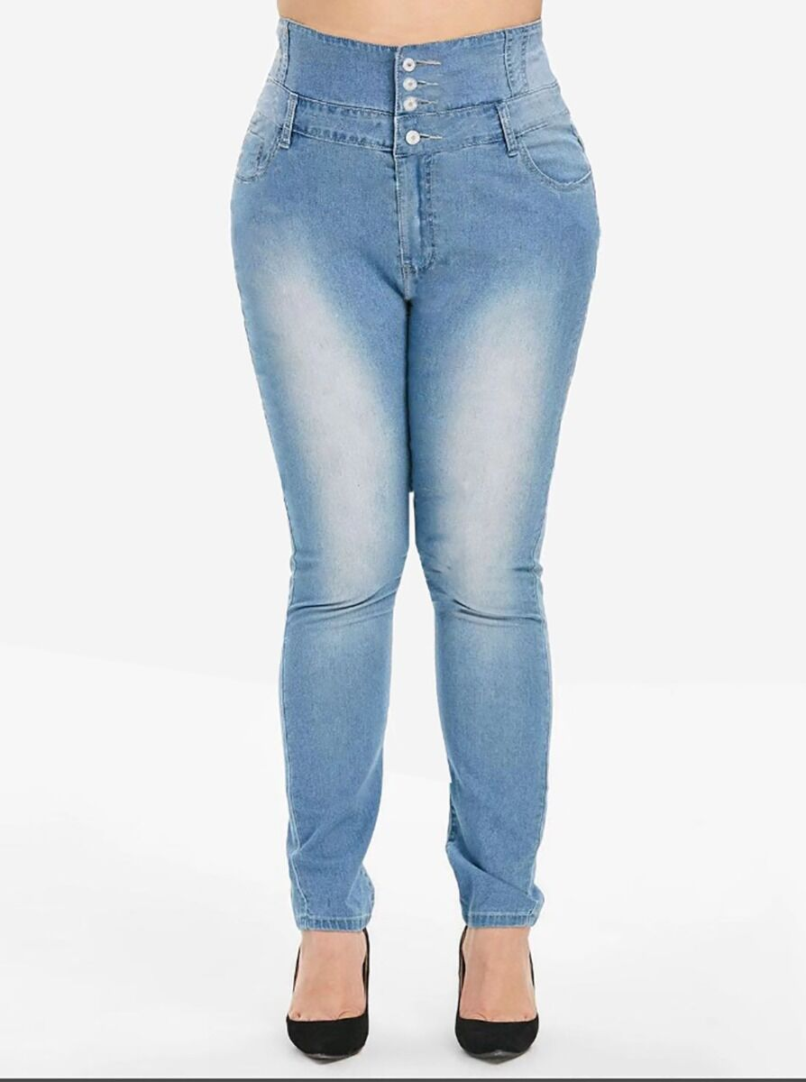 shestar wholesale Plus Size High-waist Skinny Jeans
