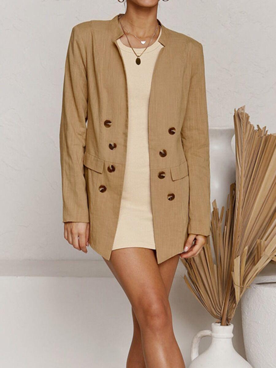 shestar wholesale Button Decor Slim Fit Women Cardigan Blazer