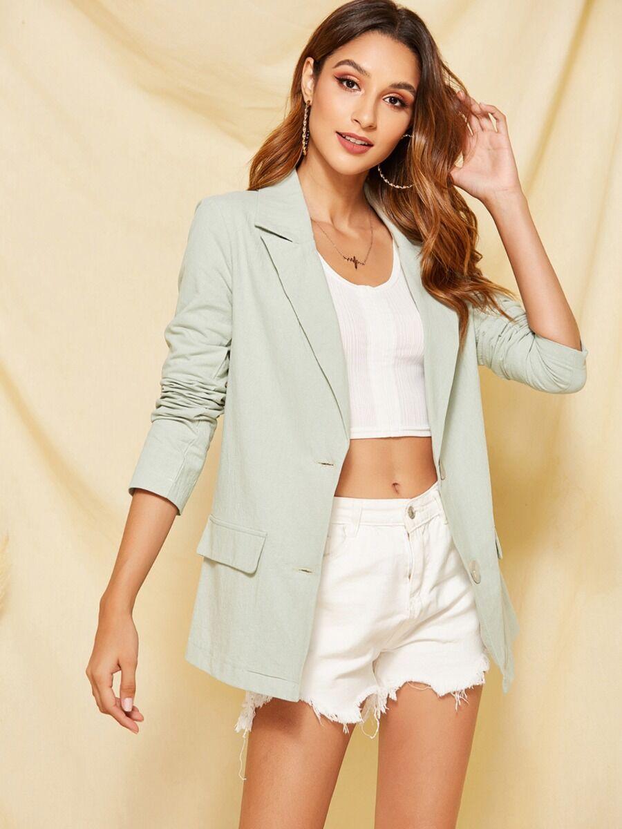 shestar wholesale Deep V Collar Solid Color Office Blazer Suit