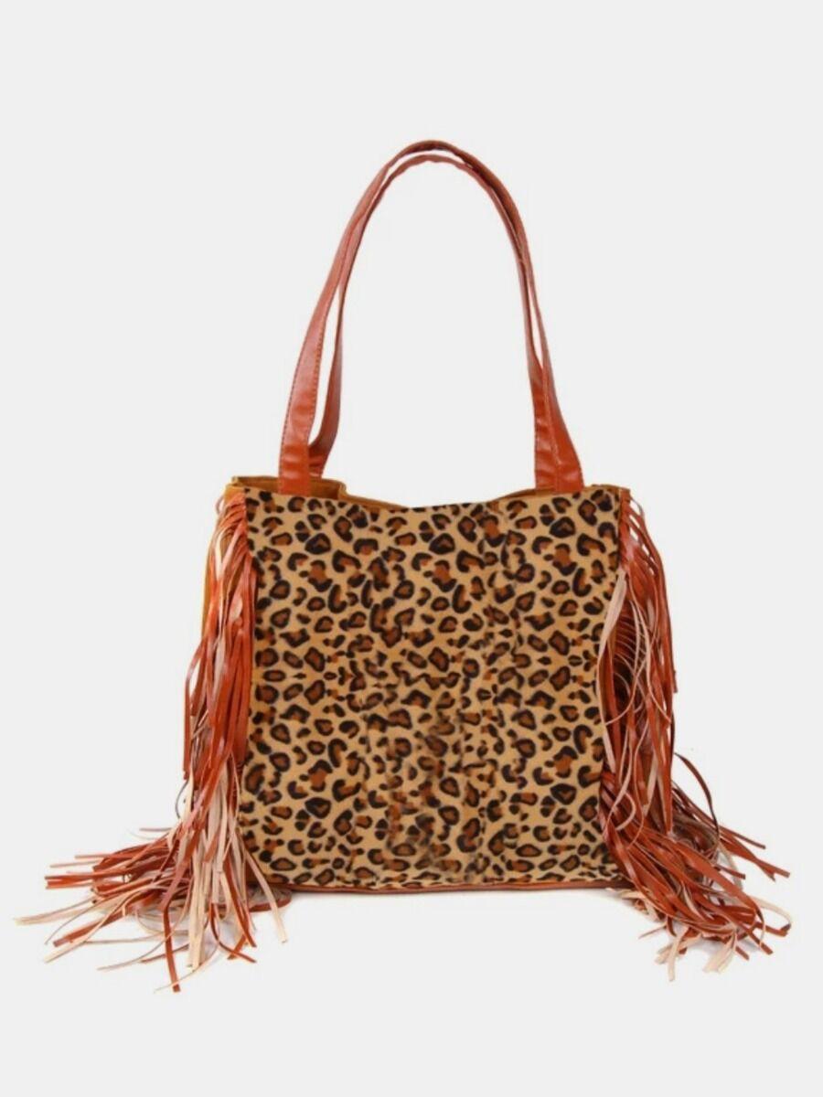 shestar wholesale Fringe Side Decor Leopard Print Women Handbag