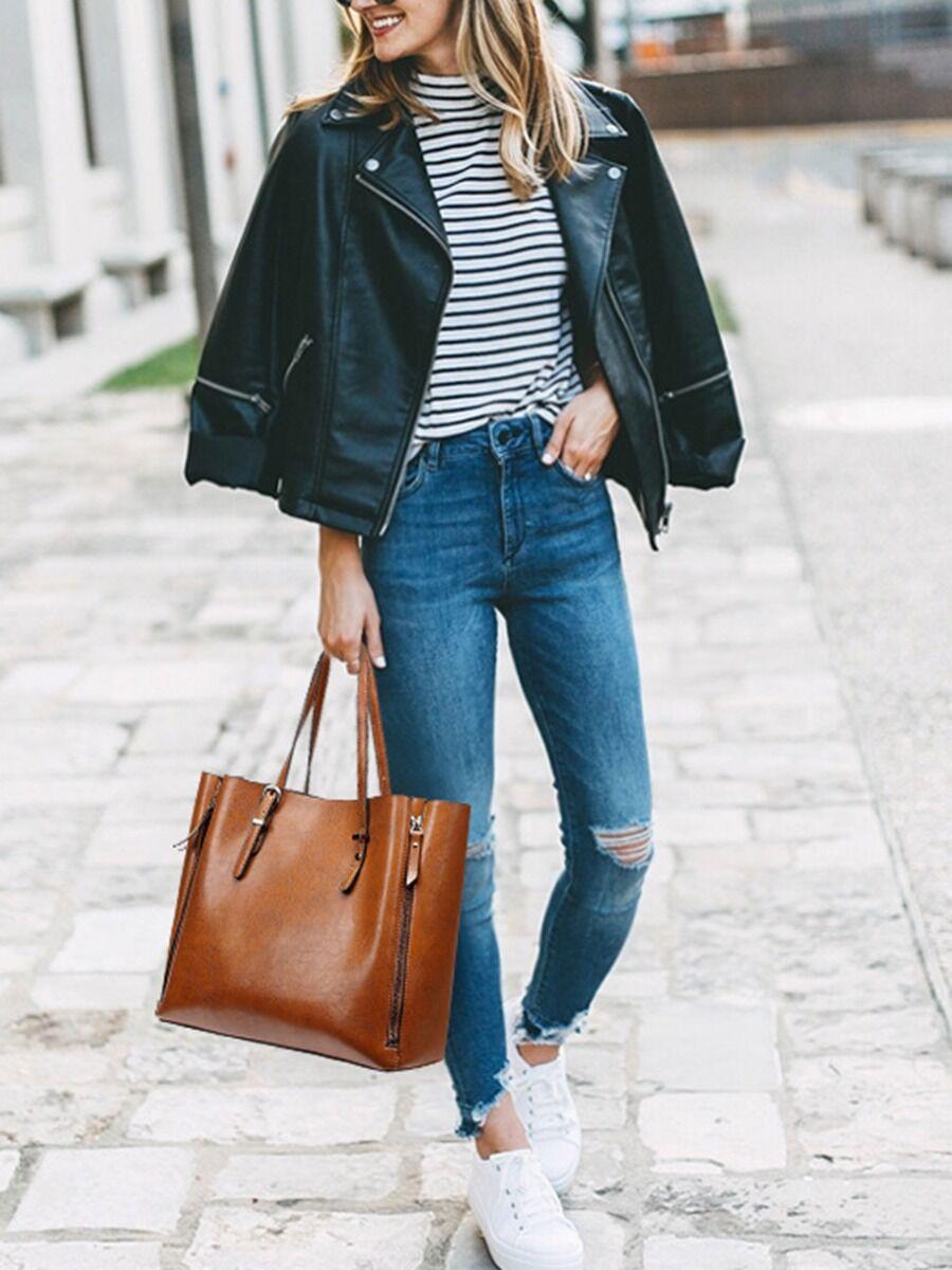 Multi-function Zipper Shoulder Bag