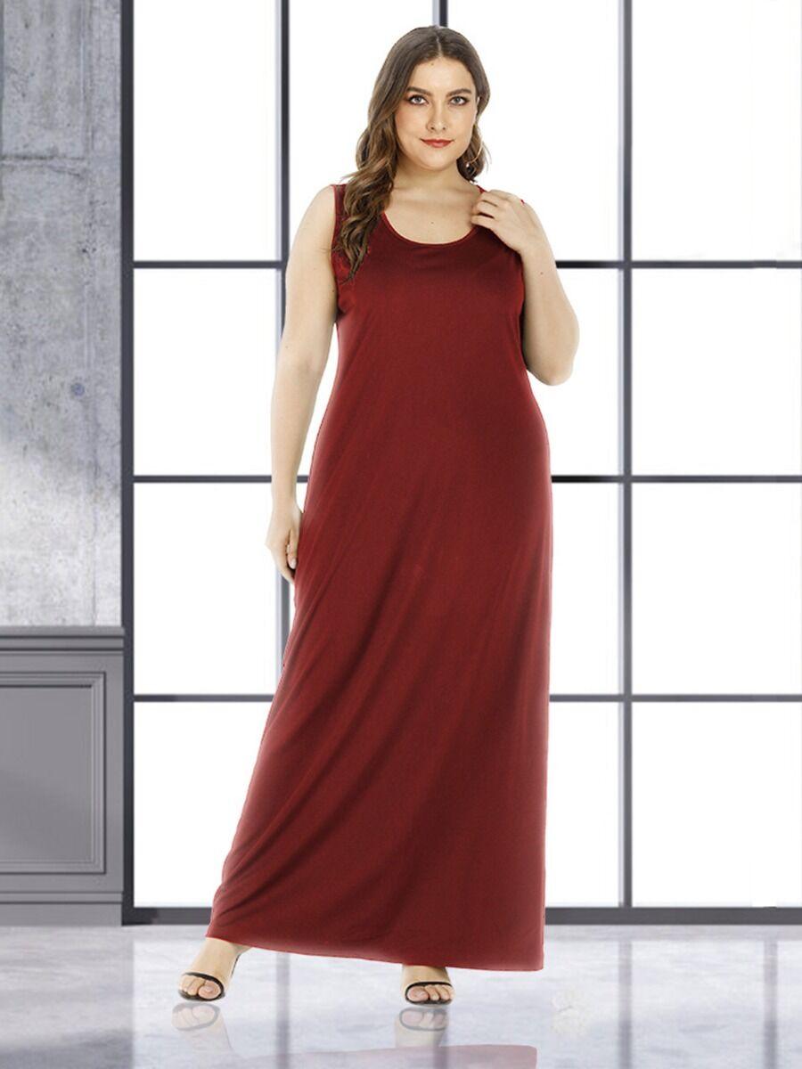 shestar wholesale Plus-Size Scoop Neck Tank Dress