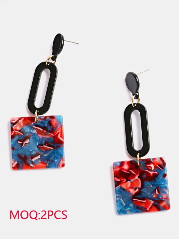 shestar wholesale Square Graphic Pendant Party Earrings