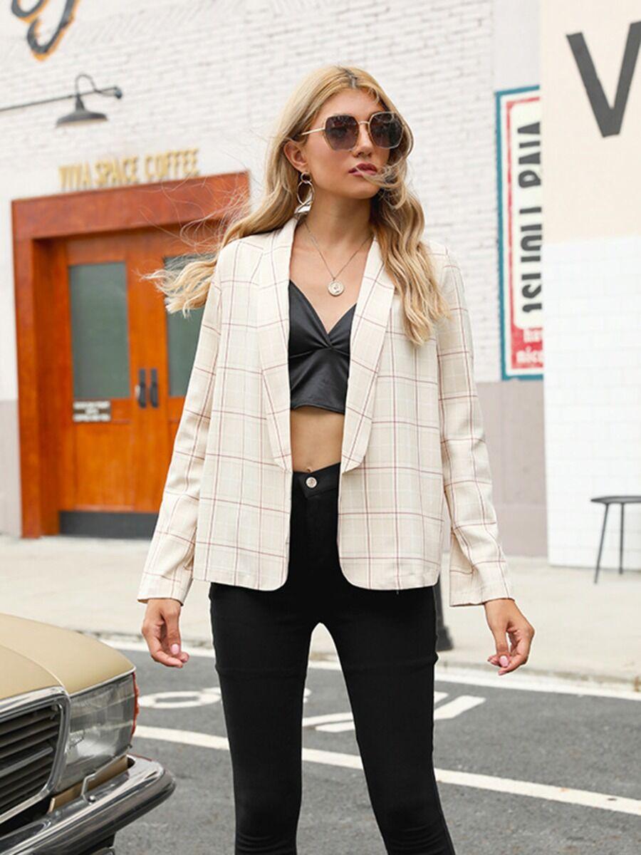shestar wholesale Women Plaid Office Blazer Suit