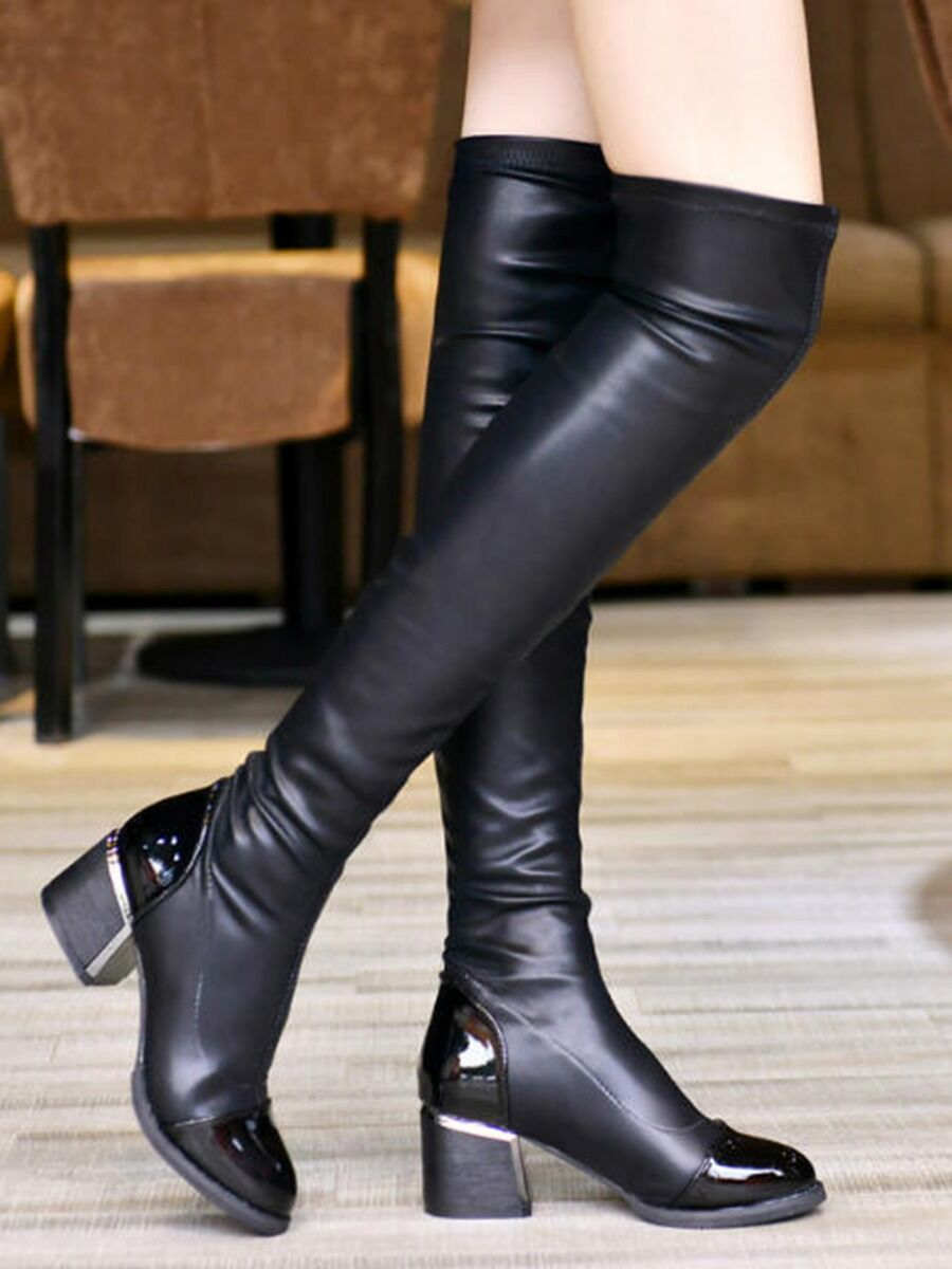shestar wholesale pointed-toe-over-knee-leather-rider-boots