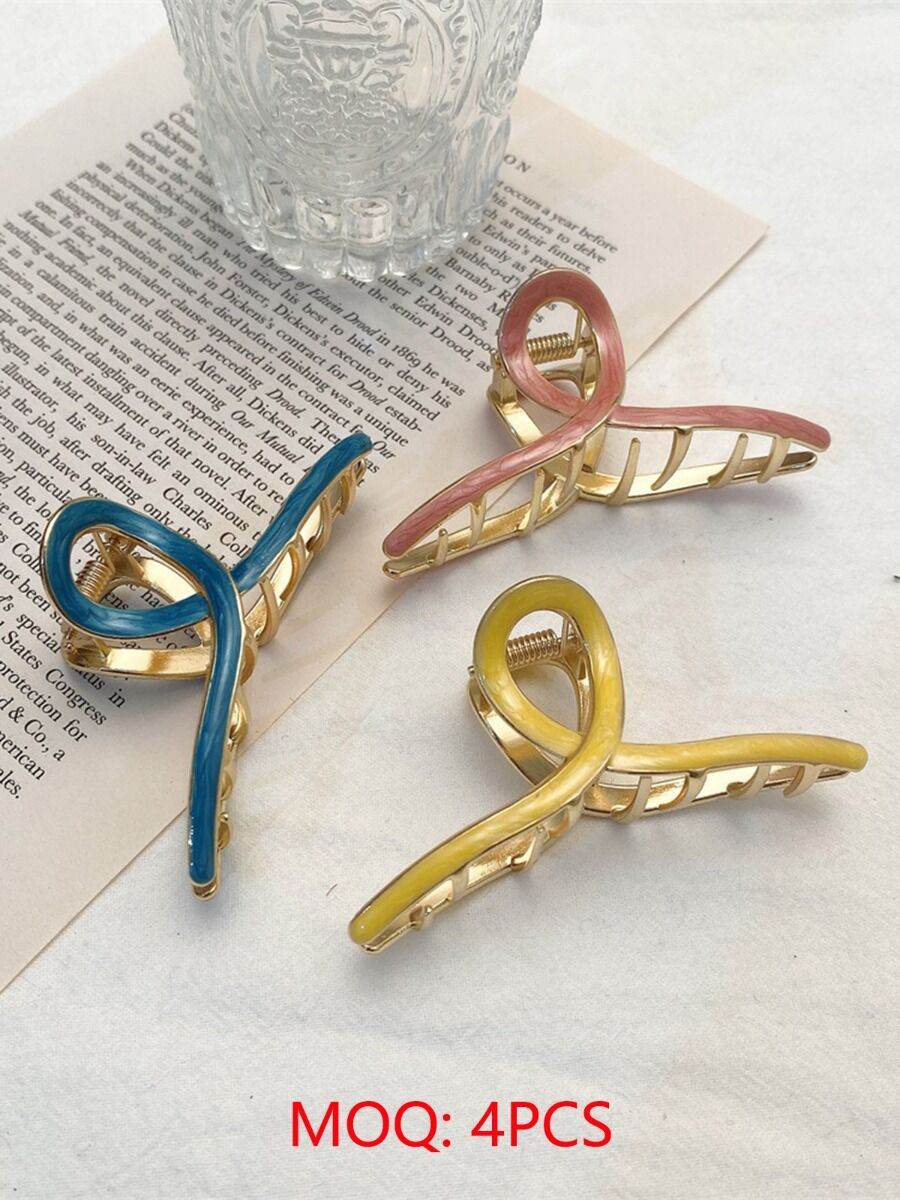 cross transparent hair claw clip