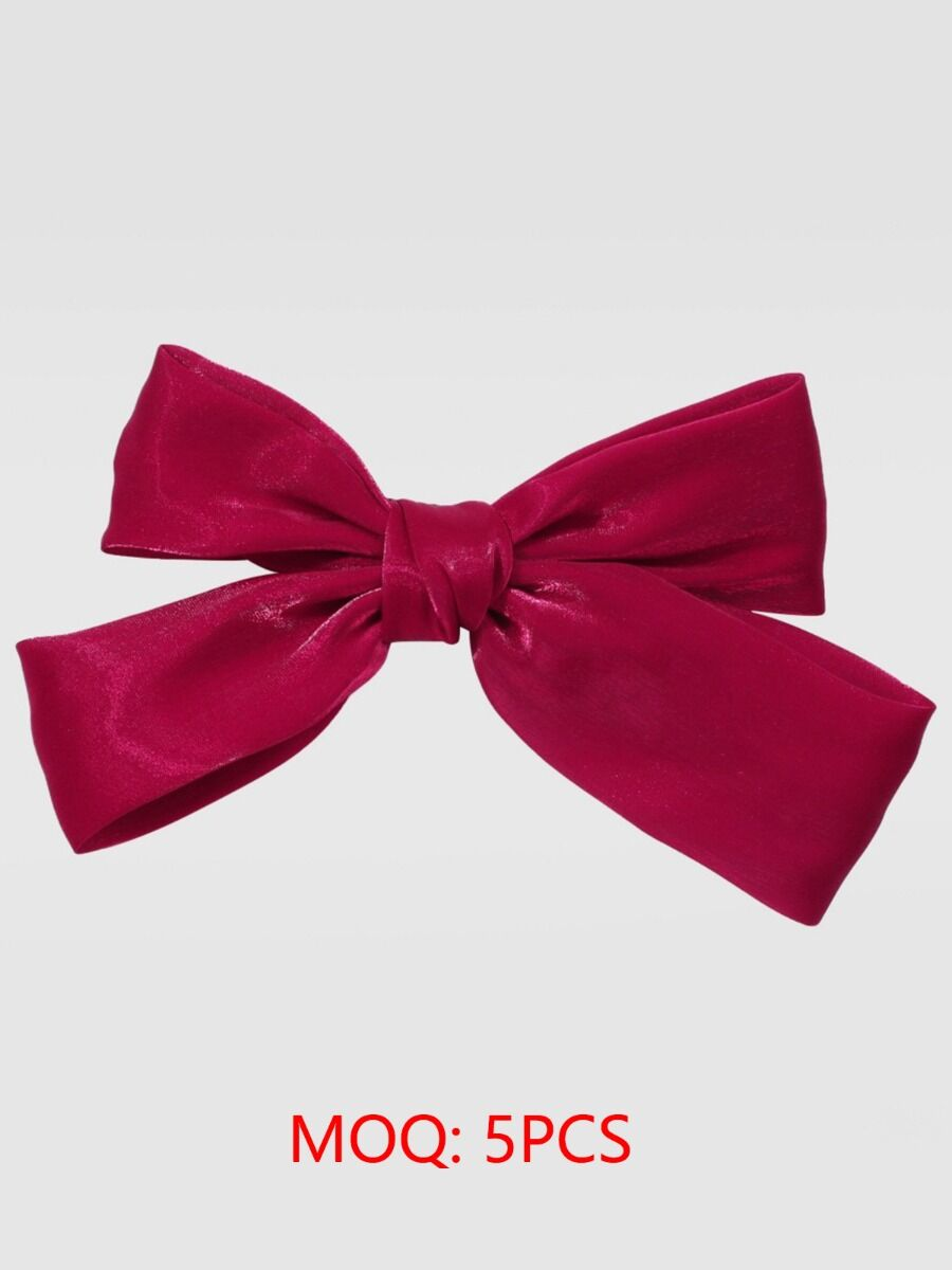 solid satin bowtie hairpin