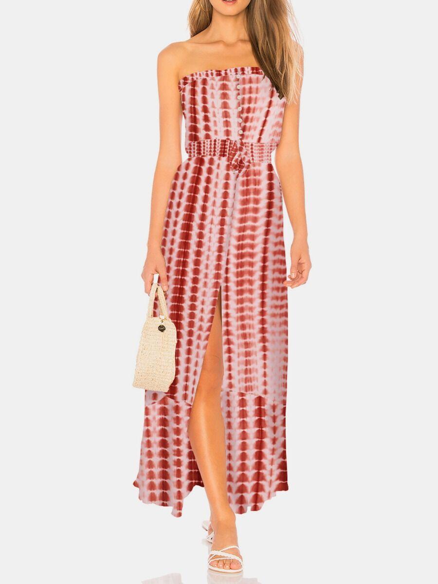shestar wholesale split hem tie dye tube dress
