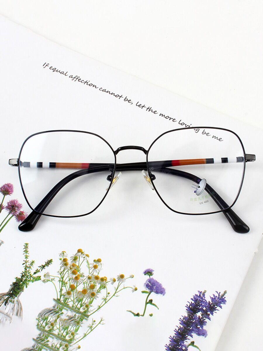 shestar wholesale womens clothing Stripe Metal Frame Anti-blue Glasses