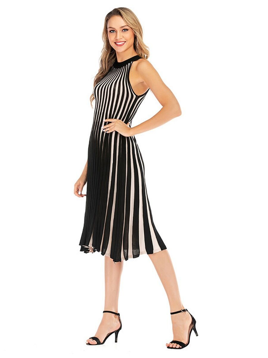 shestar wholesale Off Shoulder Striped Knitwear Dress