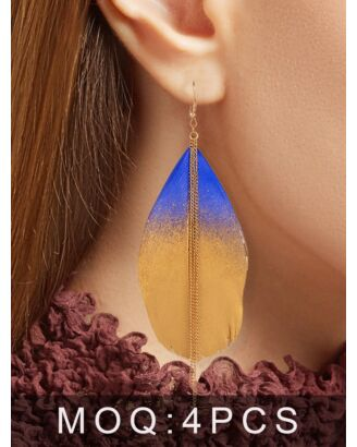 Bohemian Gradient Leaf-shaped Earrings